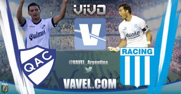 Resultdo Quilmes - Racing Club 2014 (0-1)