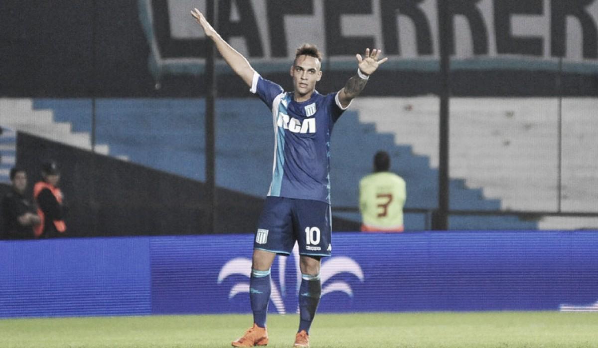 Racing gana su partido pendiente de local a Arsenal y se acerca a la Copa Libertadores