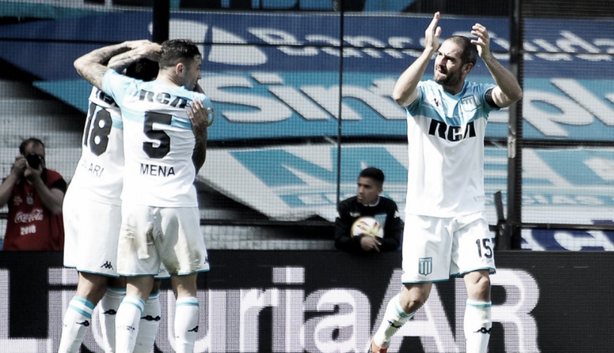 Racing le gana a Rosario Central de local y es el nuevo líder de la Superliga