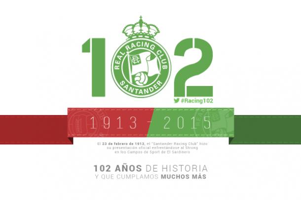 El Racing de Santander cumple 102 años