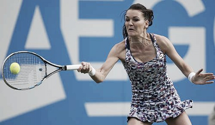 Agnieszka Radwanska says she is still improving as she looks to take her first Grand Slam