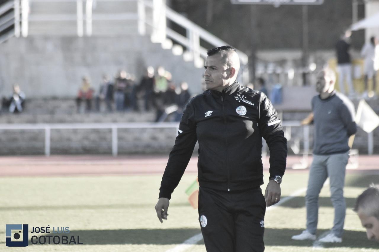 Rafa Dueñas en un partido de la temporada pasada. Foto: José Luis Cotobal