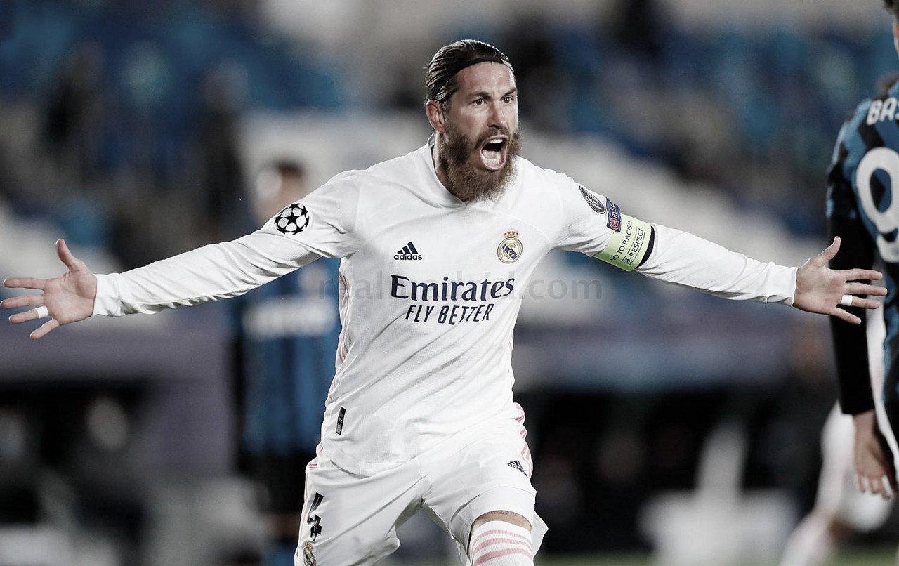 Sergio Ramos celebrando un gol con el Real Madrid | Fuente: realmadrid.com
