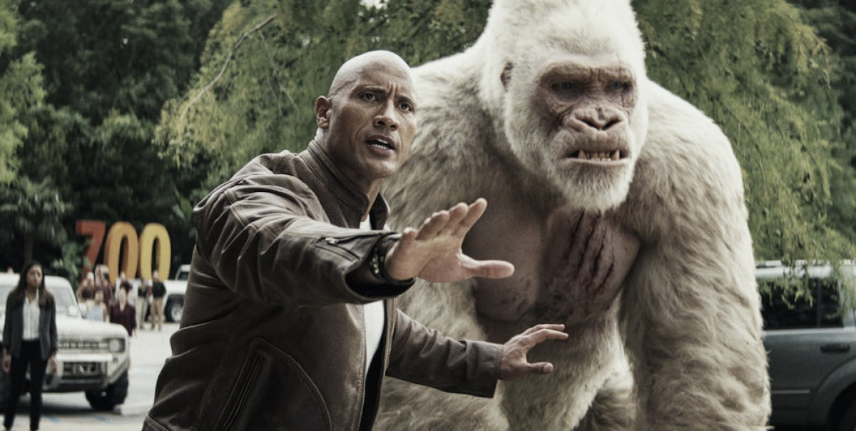 Game de destruição vira filme-catástrofe estrelado por Dwayne Johnson — Rampage