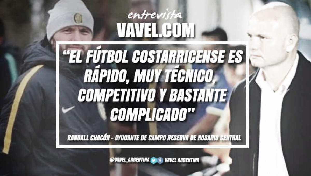 """Entrevista. Randall Chacon: """"Rosario es una ciudad muy futbolera y apasionada por este deporte"""""""