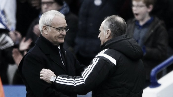 "Ranieri ""delighted"" with emphatic victory over Swansea"