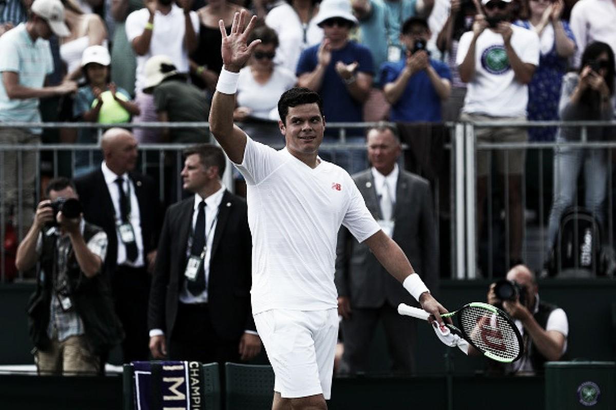 Milos Raonic afasta zebra, elimina Dennis Novak e avança em Wimbledon