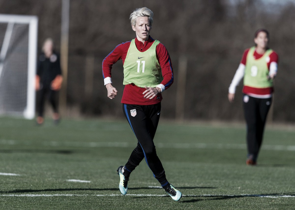 Megan Rapinoe out, Amy Rodriguez in for USWNT