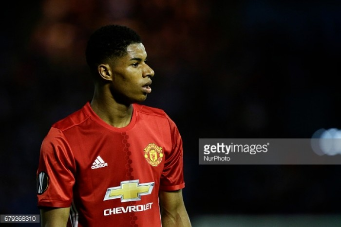 Marcus Rashford's curler gives Manchester United foothold in Europa League semi-final
