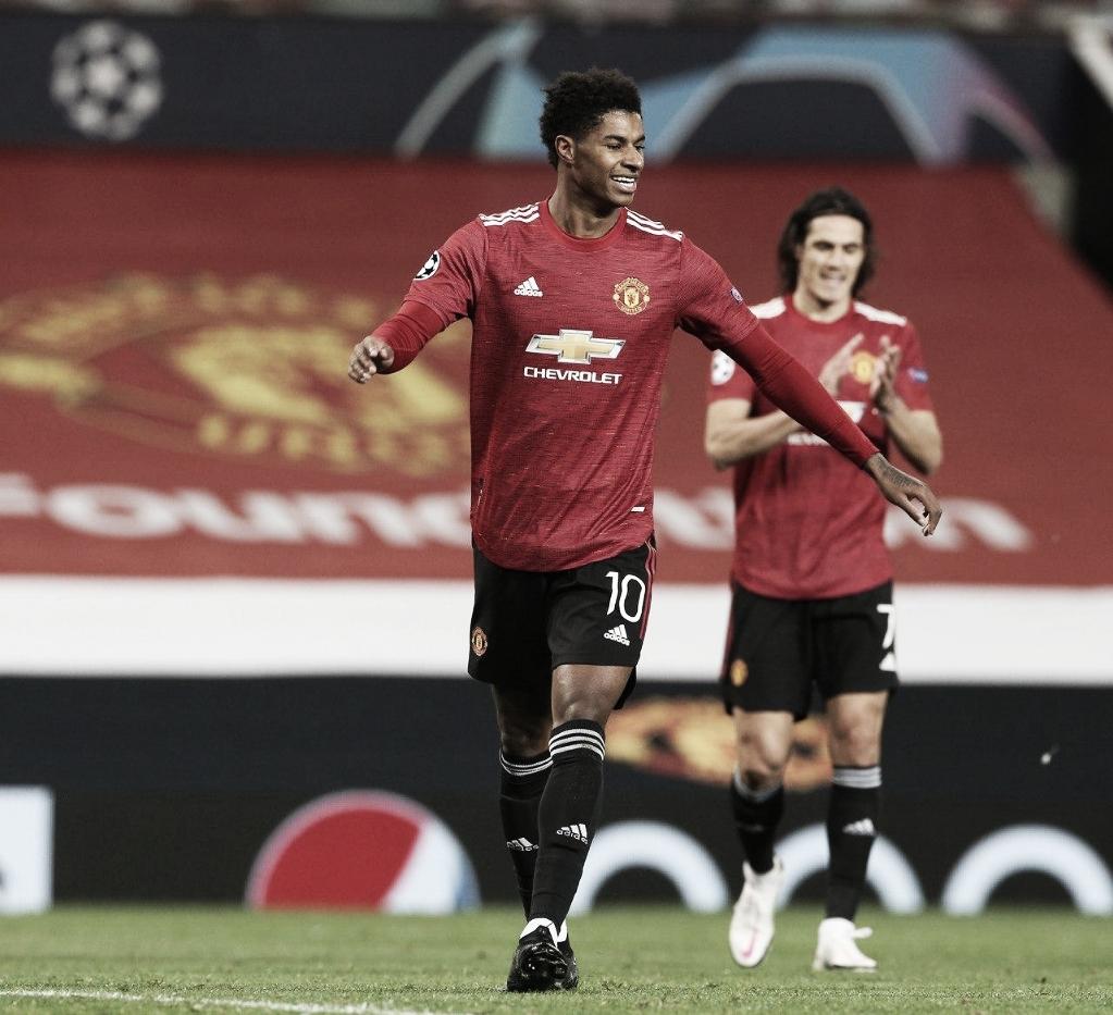 Rashford jogou 27 minutos e marcou três gols (Divulgação/Man United)