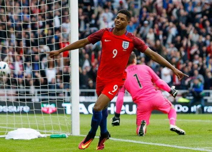 Inglesi a tutto United: Rashford-Rooney. Poi autogol di Dier: 2-1 all'Australia