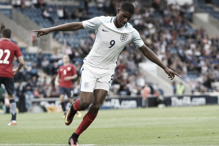 Marcus Rashford looking ahead to Manchester Derby after being praised for England Under-21 hat-trick