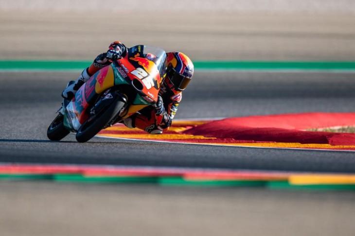 Raúl Fernández en el asfalto de Aragón | Fuente: Moto GP Oficial