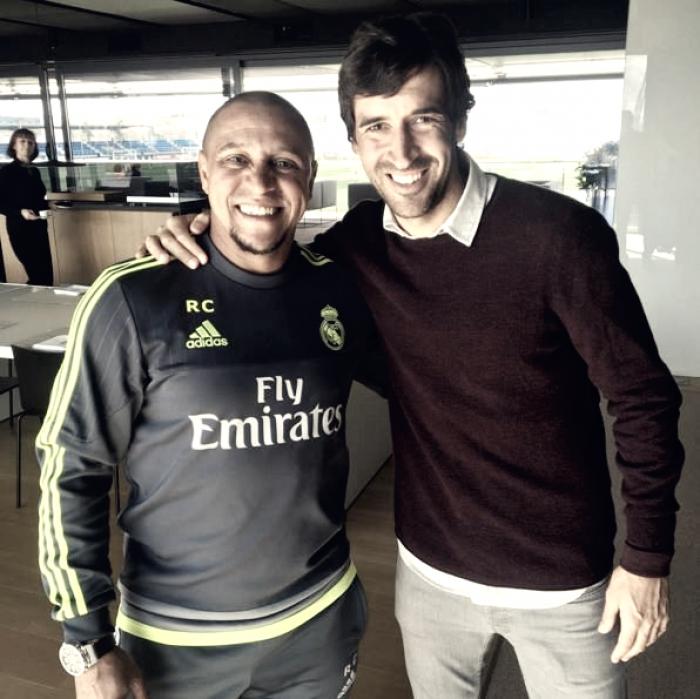 Raúl y Roberto Carlos, dos leyendas madridistas entrenadores de la cantera