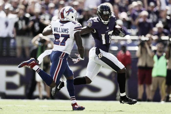 Em jogo marcado por muitas faltas, Ravens vencem Bills na NFL