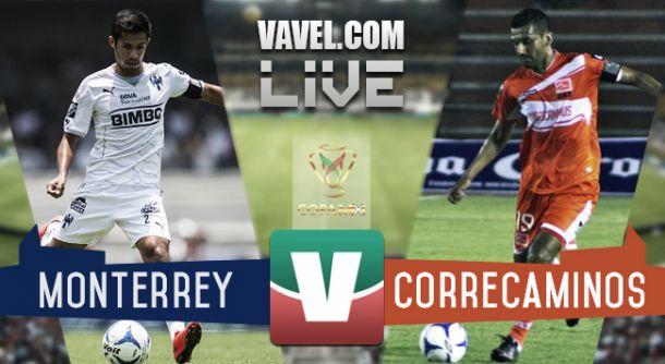 Resultado Rayados Monterrey - Correcaminos en Copa MX 2015 (1-0)