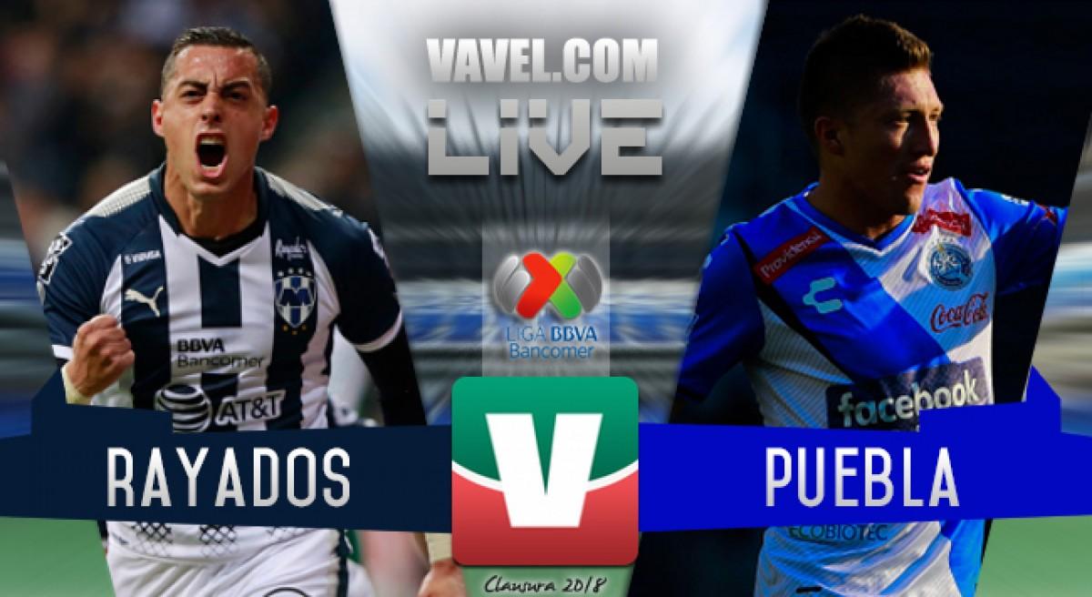 Resultado y goles de Monterrey vs Puebla en Liga MX 2018 (1-3)