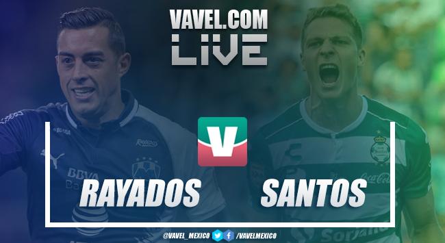 Monterrey vs Santos en Liga MX (4-0)