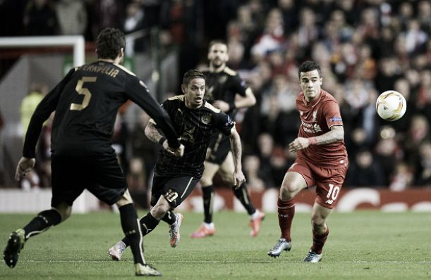 Score Rubin Kazan - Liverpool in Europa League 2015 (0-1)