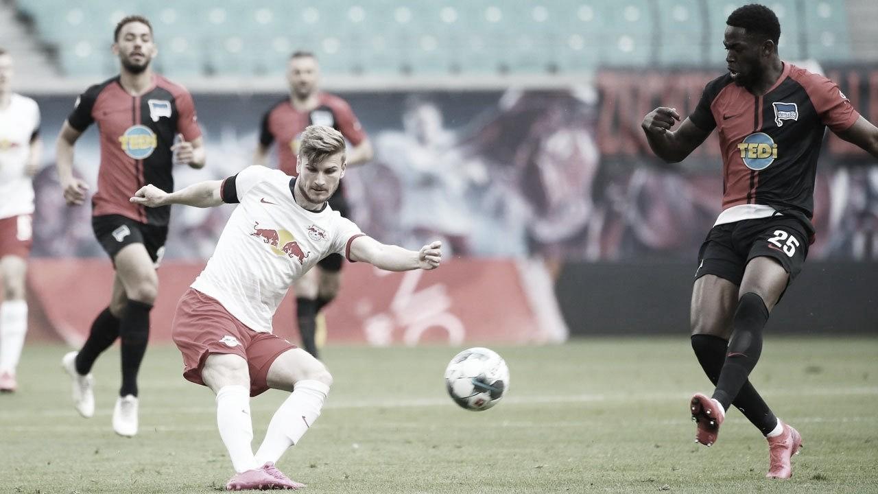 RB Leipzig fica no empate com Hertha Berlin e perde chance de assumir vice-liderança