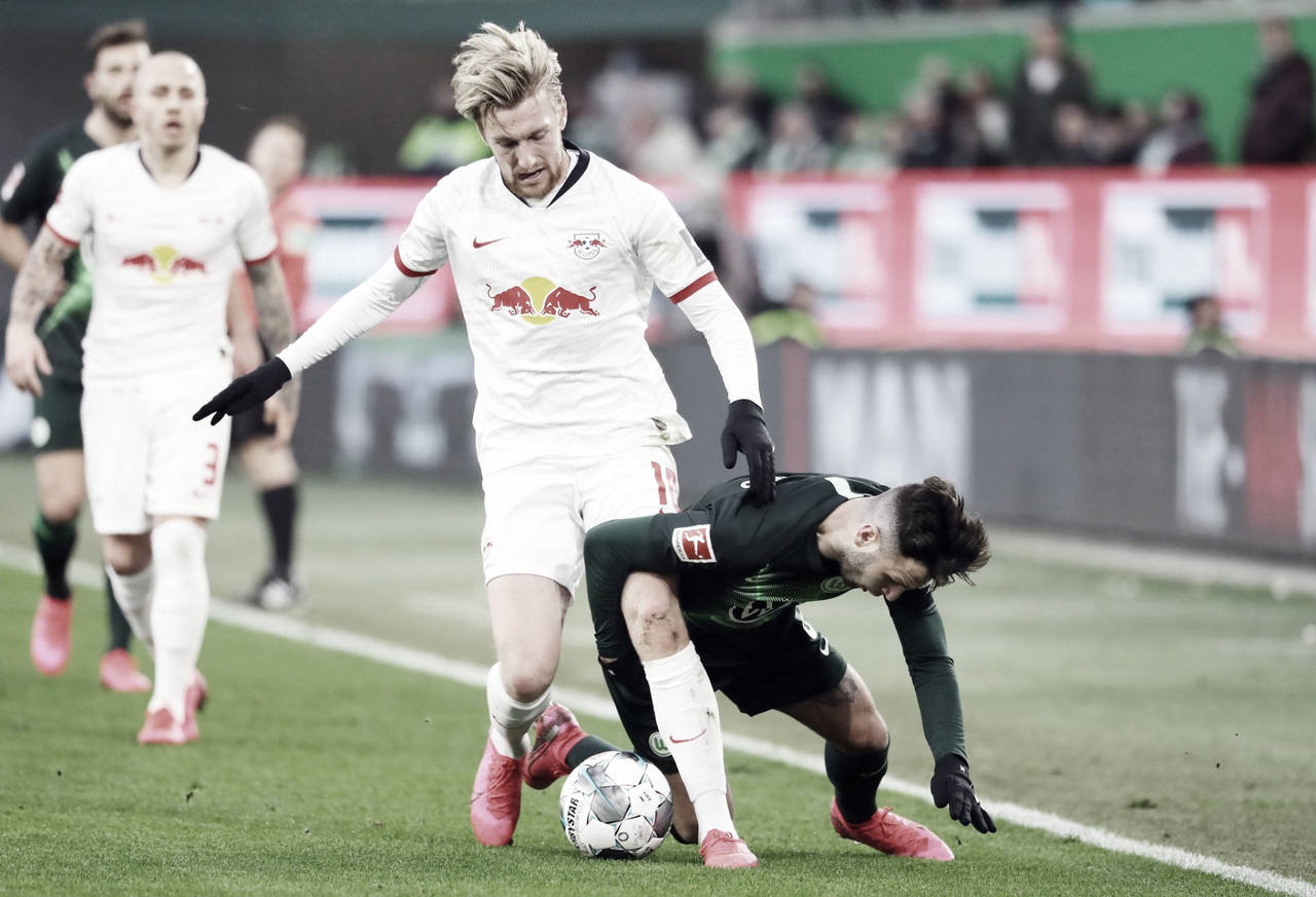 RB Leipzig empata com Wolfsburg e se afasta da liderança da Bundesliga