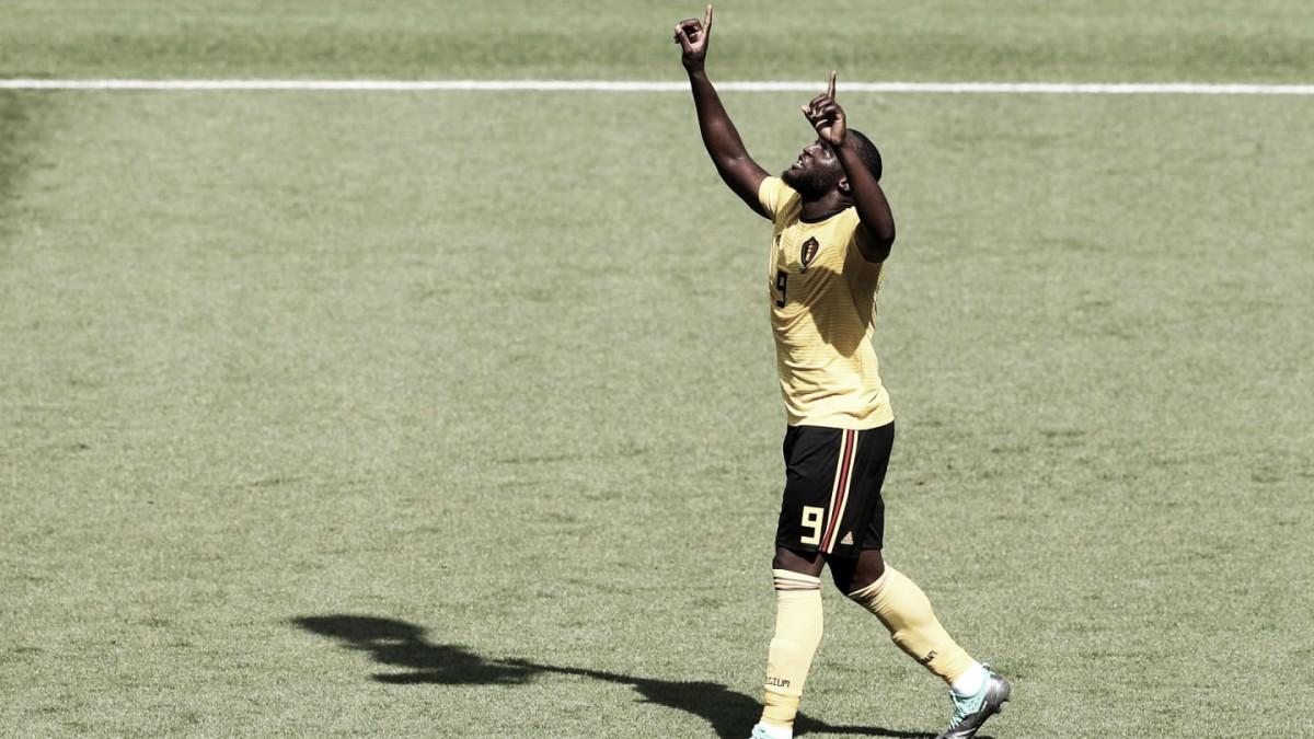 """Autor de dois gols, Lukaku destaca manutenção de postura belga: """"Ser melhores no próximo jogo"""""""