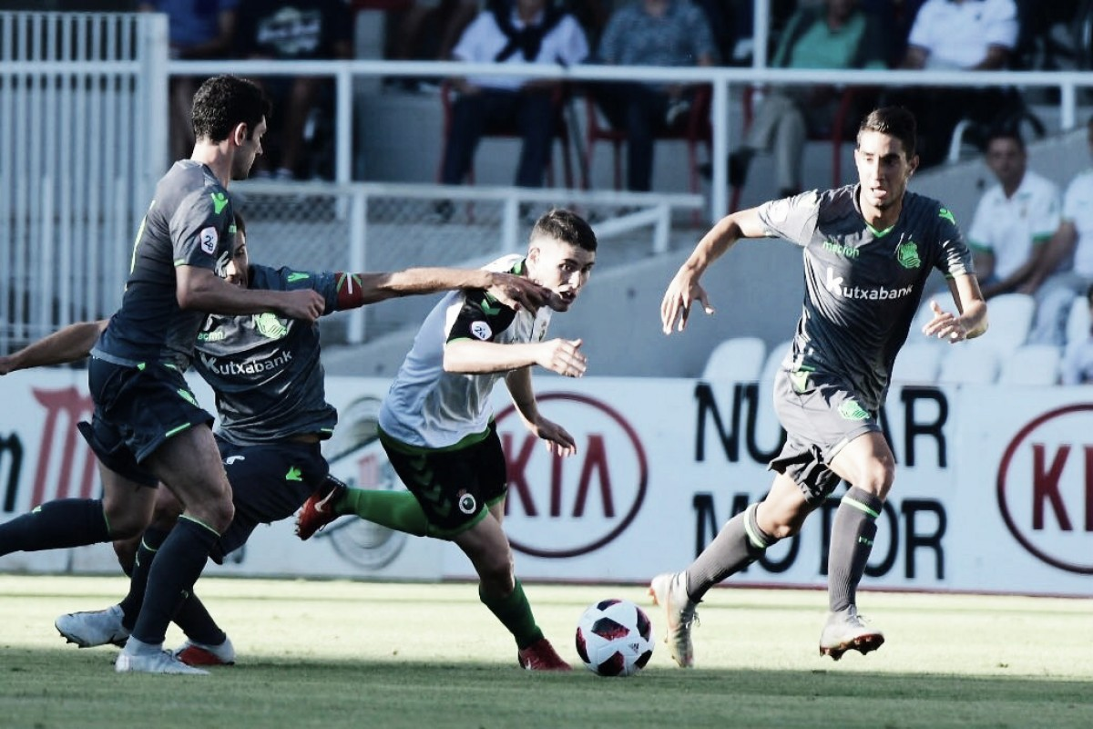 Buñuel protagonizó la jugada del único gol (Foto: @realracingclub)