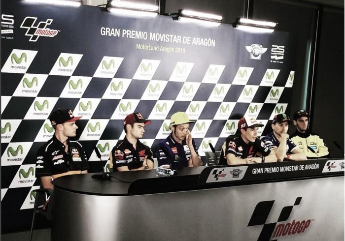 Rueda de prensa GP Aragón 2016