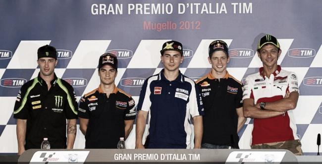 Los pilotos de MotoGP, listos para la acción en Mugello