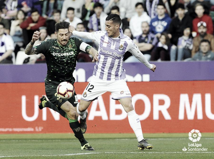 El Real Valladolid cae ante el Betis y no mejora de cara a portería