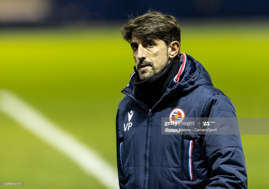Reading manager Veljko Paunovic looks on after the final whistle in his side's draw with Sheffield Wednesday. Photo: Andrew Kearns/VameraSport/Getty Images.