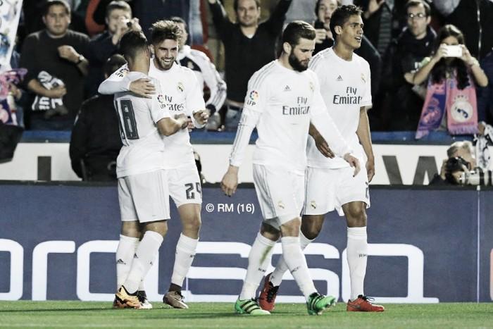 Liga, il Real ritrova la vittoria sul campo del Levante (1-3)