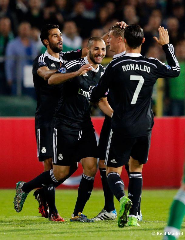 Benzema saca al dragón del atasco búlgaro