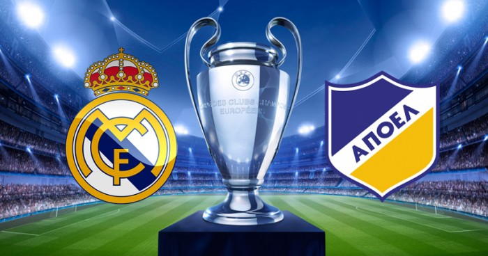 Champions League - le formazioni ufficiali di Real Madrid - Apoel