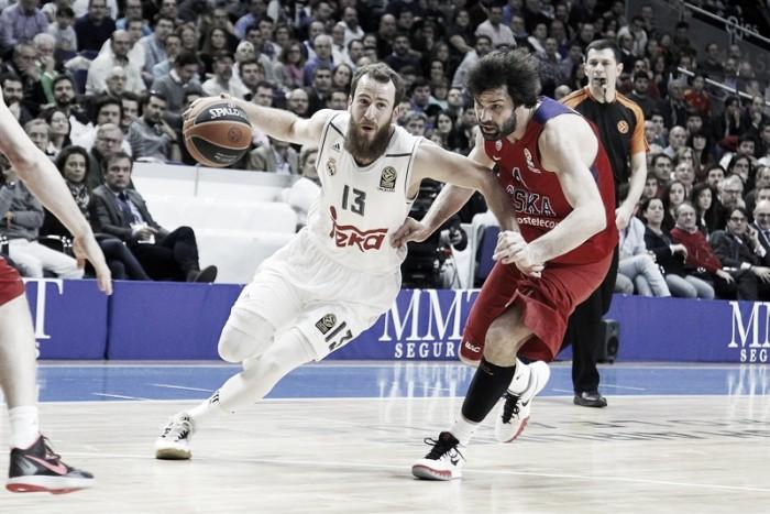 El CSKA asalta el Palacio ante un Madrid ciego desde el triple