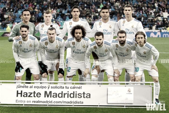Real Madrid - Villarreal CF, puntuaciones del Real Madrid, jornada 19 de Liga 2018
