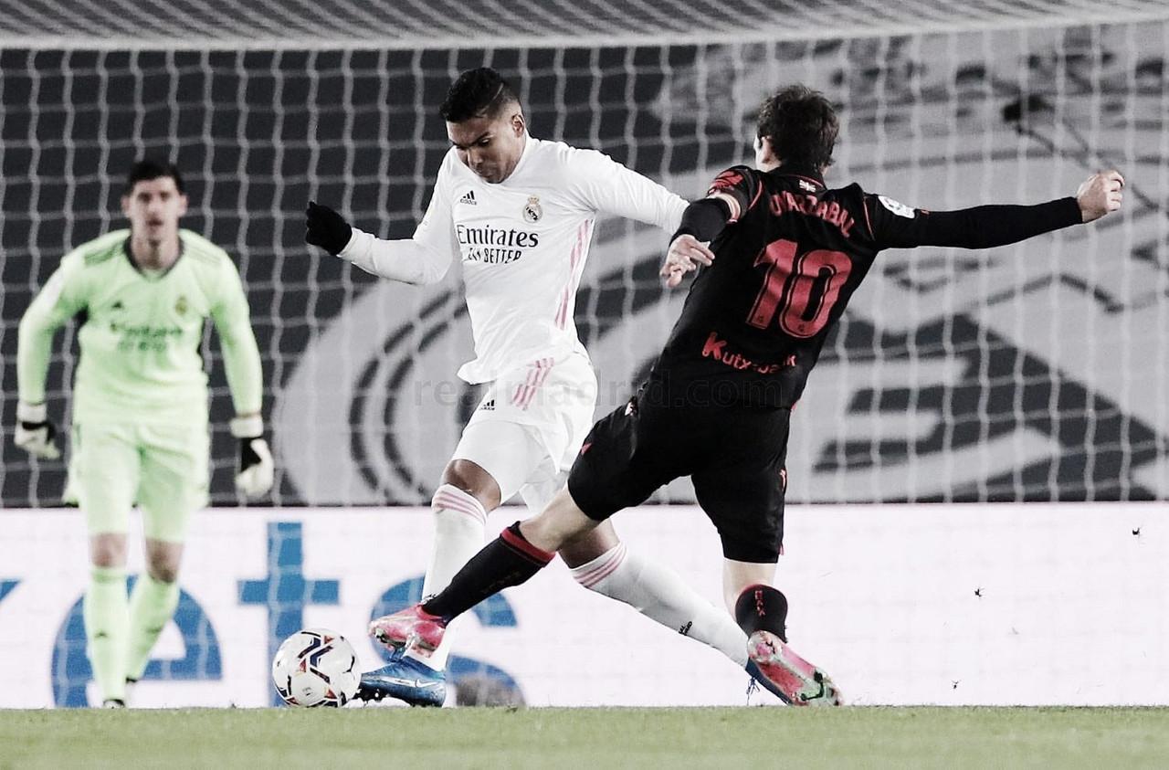 La Real Sociedad abre el cerrojo del Real Madrid