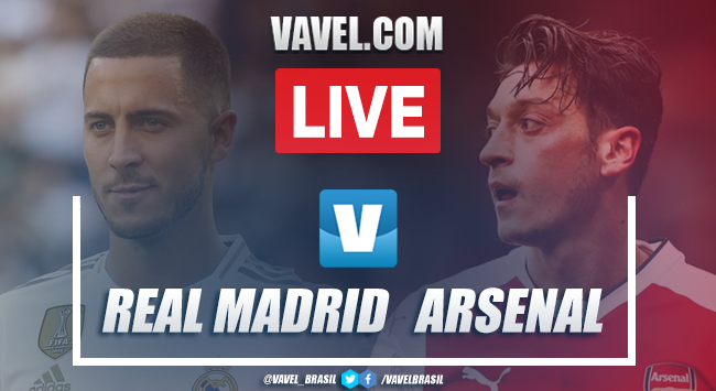 Real Madrid x Arsenal AO VIVO hoje pela Champions Cup (2-2)