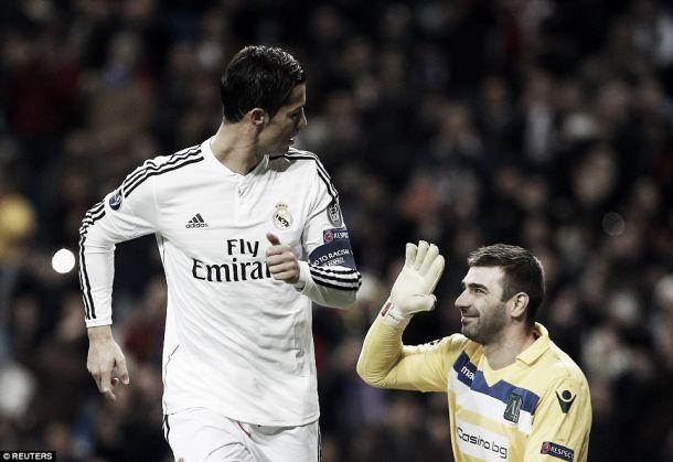 Cristiano Ronaldo suplanta Raúl em golos na Liga dos Campeões