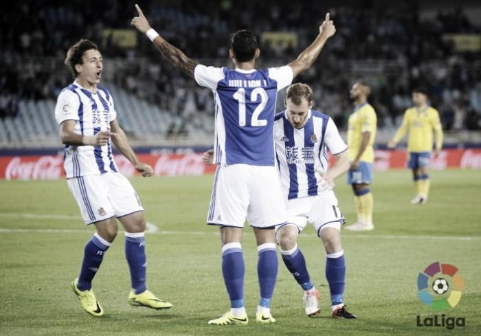 Real Sociedad vence Las Palmas em casa e se aproxima de vaga por Champions League