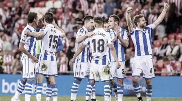 La plantilla de la Real Sociedad vuelve al trabajo antes de asaltar San Mamés