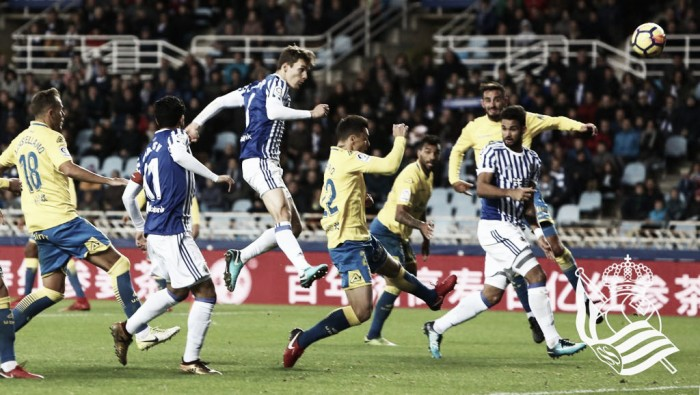 Willian José marca belo gol, mas Real Sociedad apenas empata com Las Palmas em casa
