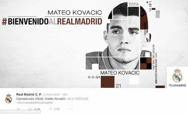 Real Madrid contrata prodígio croata Kovacic por 30 milhões de euros