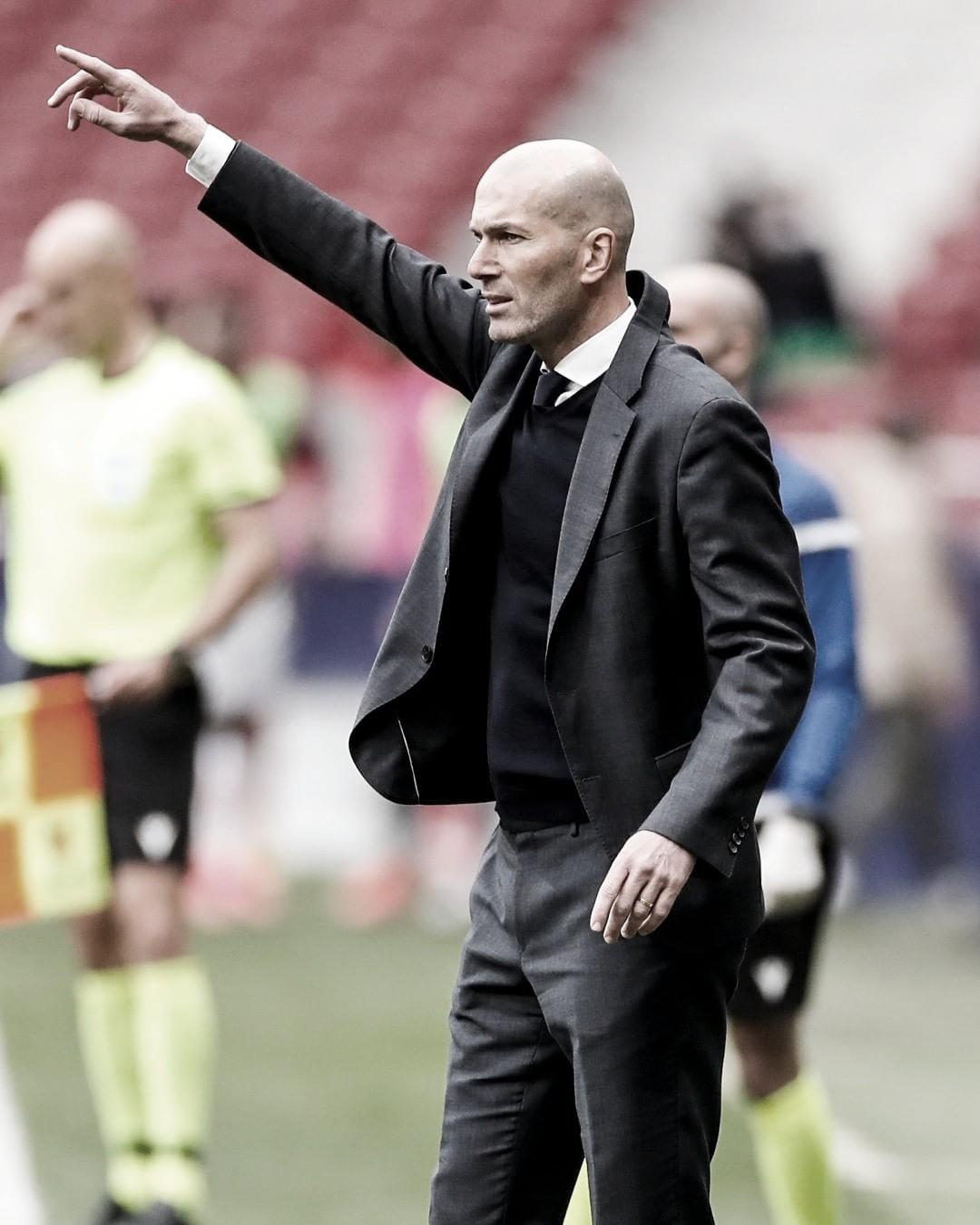 """Zidane: """"Partimos de cero, la ida fue la ida y ahora será complicado"""""""