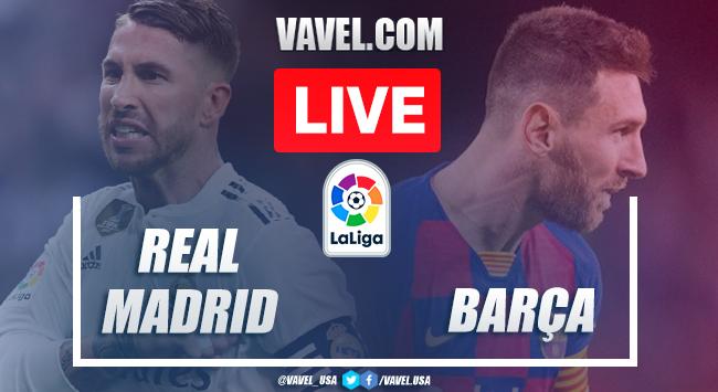 Gols e melhores momentos de Real Madrid x Barcelona pela La Liga 2019-20 (2-0)