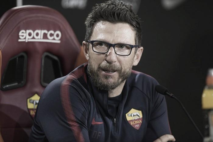 Eusebio Di Francesco admite que Roma não está pronta para disputar o título da Serie A