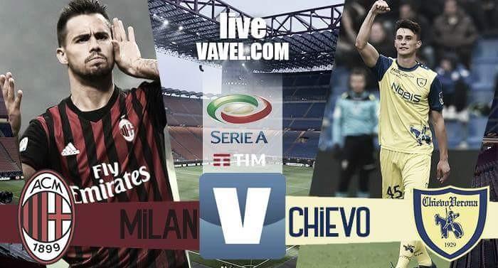 Milan - Chievo Verona in Serie A 2016/17 (3-1): Bacca e Lapadula regalano i 3 punti ai rossoneri