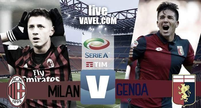 Risultato finale Milan - Genoa in Serie A 2016/17 (1-0): Mati Fernandez regala il successo ai rossoneri