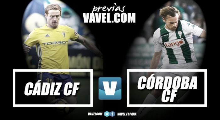 Previa Cádiz CF - Córdoba CF: Desequilibrado derbi andaluz