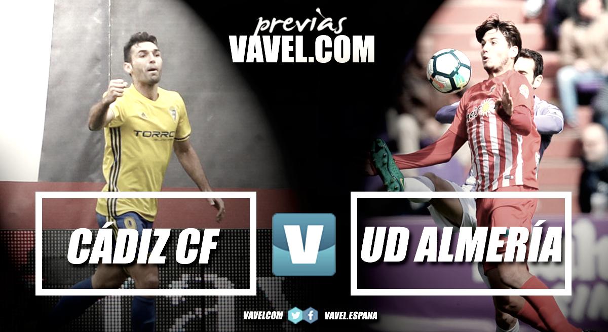 Previa Cádiz CF - UD Almería: la primera de las nueve finales